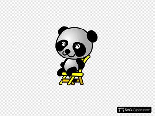 Sitting Panda Bear