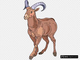 Stylized Bighorn Sheep