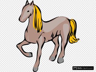 Cartoon Horse SVG Clipart
