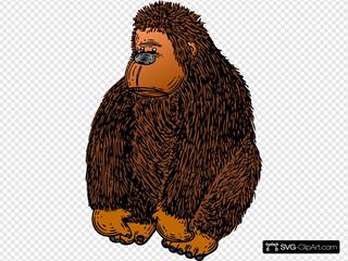 Brown Gorilla Stuffed Toy