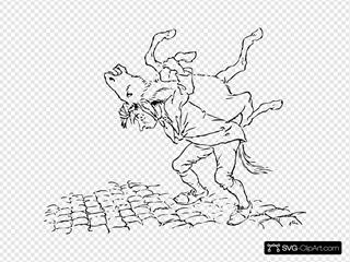 Man Carries Donkey