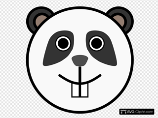 Panda Rounded Face SVG Cliparts