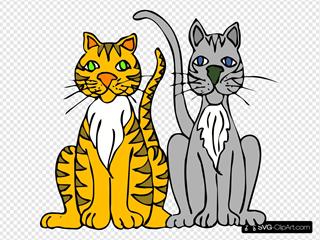 Two Cartoon Cats