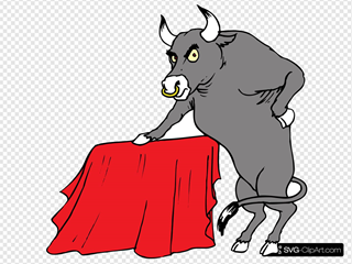 Bull With Red Cape