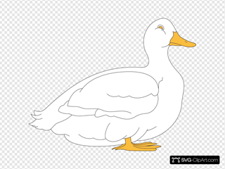 White Duck SVG Clipart