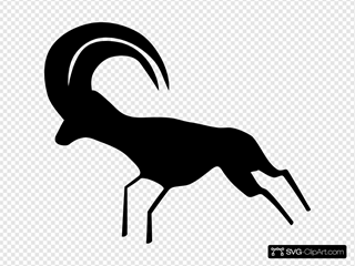 Rock Art Saharan Antelope