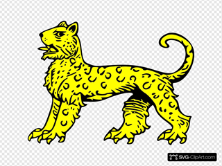 Gold Leopard Symbol