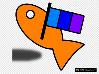 Fish Carry Flag SVG Clipart