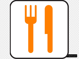 Orange Knife And Fork