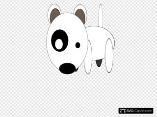 Round Cartoon Bullterrier SVG Clipart