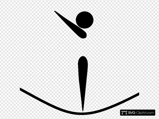 Olympic Sports Pictograms Olympic Sports Gymnastics Trampoline Pictogram