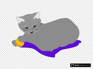Cat With Yellow Ball