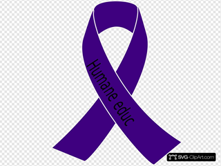 Purple Awareness Ribbon SVG Clipart