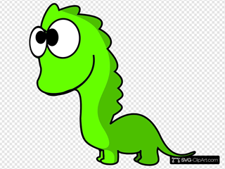 Green Dinosaur Cartoon