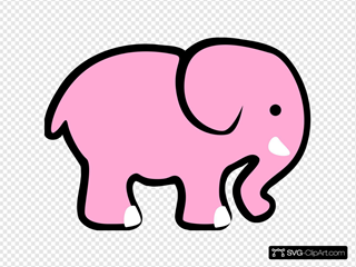 Adorable Pink Elephant