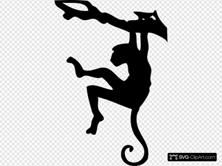 Monkey Sihouette SVG Cliparts