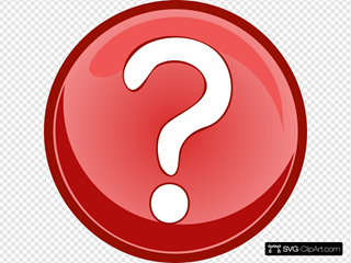 Red Question Mark Circle SVG Clipart