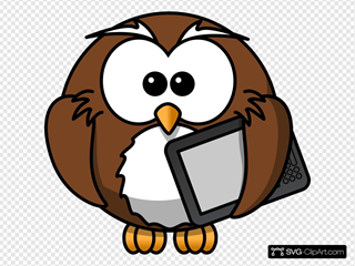 Owl With Tablet