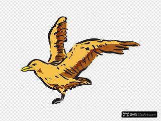 Flying Bird Side View Art