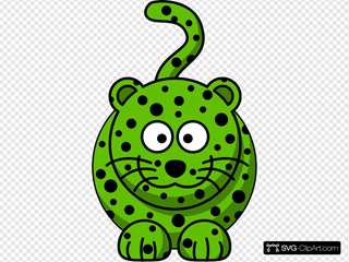 Green Leopard SVG Cliparts