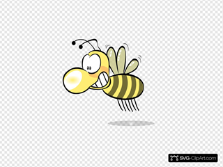 Bee1 SVG Clipart