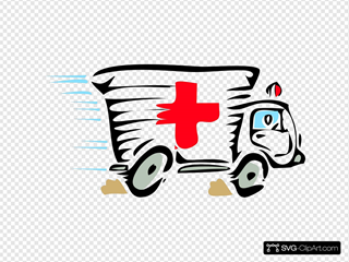 Ambulance Car SVG Clipart