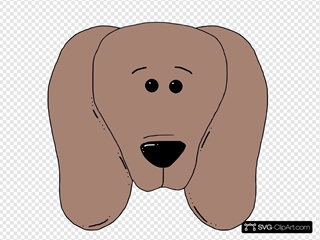 Dog Face 2 SVG Clipart
