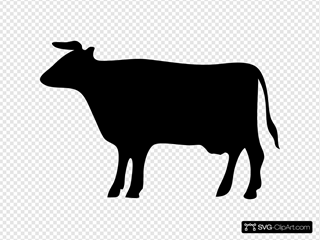 Cow Silhouette 3 SVG Clipart