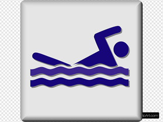 Hotel Icon Swimming Pool SVG Clipart