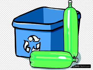 Recycling Bin And Bottles Clipart