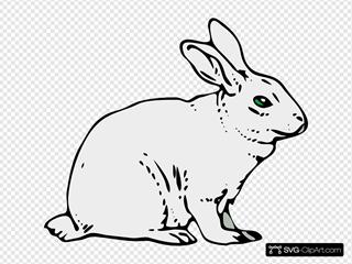 Gray Rabbit SVG Clipart