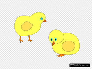 Chickens Figure Color