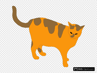 Orange And Brown Cat Clipart