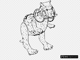 Taun Fictitious Animal SVG Clipart