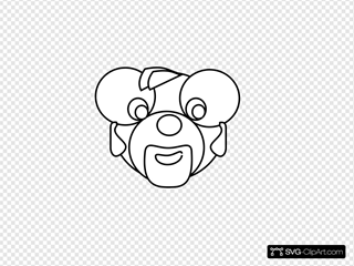 Cartoon Bear Head Outline