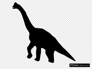 Dinosaurio Silhouette SVG Clipart