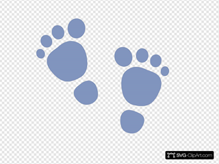 H Foot Print SVG Clipart