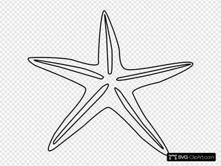 Starfish Outline