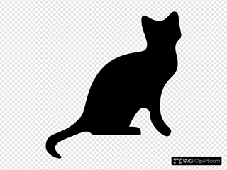 Cat Silhouette 2 Clipart