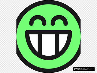 Flat Grin Smiley Emotion Icon Emoticon SVG Clipart