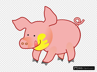 Happy Pig SVG icons