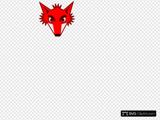 Fox Head SVG Clipart