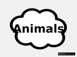 Animals Label Sign