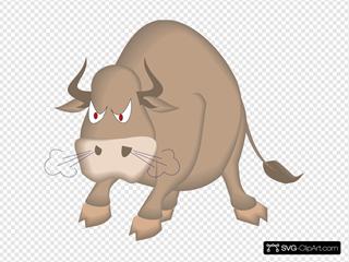 Angry Snorting Bull