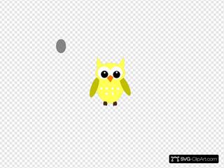Cute Yellow Gray Owl