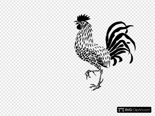 Rooster SVG icons