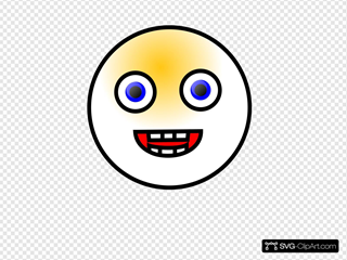 Smiley Face 4 SVG Clipart