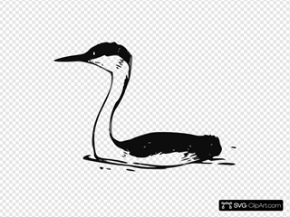 Western Grebe SVG Clipart
