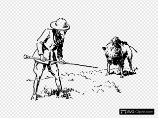 Hunting Boar SVG Clipart