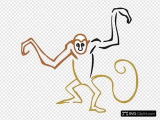 Stylized Monkey Art